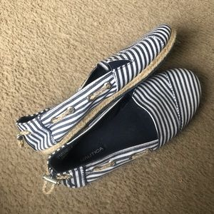 Nautica slip on striped shoes